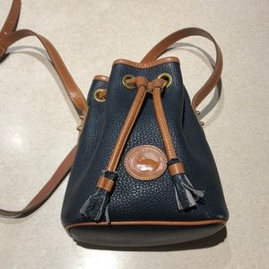 Dooney and Bourke Blue Drawstring Bag